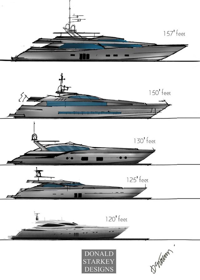 156 FOOT 475 M MEGA YACHT CONCEPT DESIGNED BY DONALD STARKEY